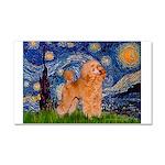 Starry / Poodle (Apricot) Car Magnet 20 x 12