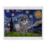 Starry Night / Poodle (s) Throw Blanket