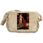 Accolade / Poodle (Silver) Messenger Bag