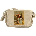 Vase / Poodle (White) Messenger Bag