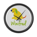 Winifred Loves Puppies Large Wall Clock