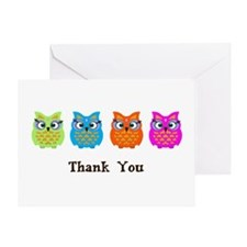 Colorful Owls Greeting Card