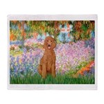 Garden/Std Poodle (apricot) Throw Blanket