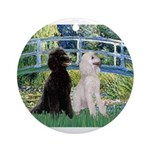 Bridge / Std Poodle (pr) Ornament (Round)