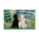 Bridge / Std Poodle (pr) 20x12 Wall Decal
