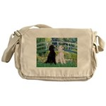 Bridge / Std Poodle (pr) Messenger Bag