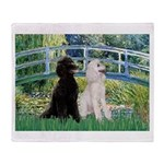 Bridge / Std Poodle (pr) Throw Blanket