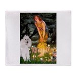 Fairies / Std Poodle(w) Throw Blanket