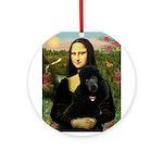 Mona / Std Poodle (bl) Ornament (Round)