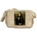 Mona / Std Poodle (bl) Messenger Bag