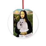 Mona / Std Poodle(w) Ornament (Round)