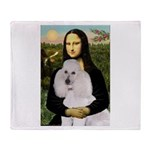 Mona / Std Poodle(w) Throw Blanket