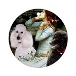 Ophelia / Poodle pair Ornament (Round)
