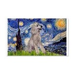 Starry / Std Poodle (s) 20x12 Wall Decal