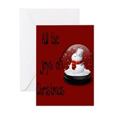 Snowman Snowglobe Greeting Card