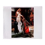 Accolade / 2 Poodles(b&w) Throw Blanket