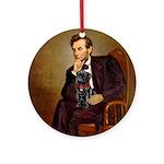 Lincoln-Black Pug Ornament (Round)