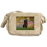 Garden / Black Pug Messenger Bag