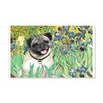 Irises / Pug 20x12 Wall Decal
