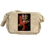 Lady / Pug Messenger Bag