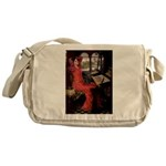 Lady / Black Pug Messenger Bag