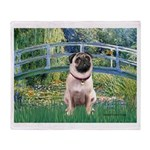 Bridge / Pug Throw Blanket