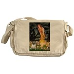 Fairies & Pug Messenger Bag