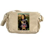 Mona & Sir Pug Messenger Bag