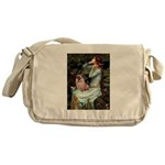 Ophelia / Fawn Pug Messenger Bag