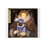The Queen & Sir Pug Throw Blanket