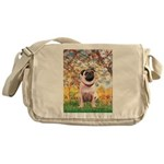 Spring / Pug Messenger Bag