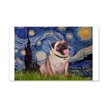 Starry Night and Pug 20x12 Wall Decal