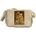 The Kiss / Pug Messenger Bag