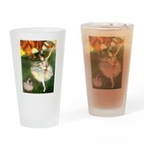 Dancer 1 & fawn Pug Drinking Glass