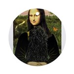 Mona Lisa /Puli Ornament (Round)