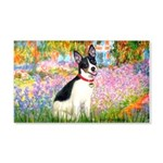 Garden / Rat Terrier 20x12 Wall Decal