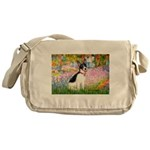 Garden / Rat Terrier Messenger Bag