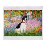 Garden / Rat Terrier Throw Blanket