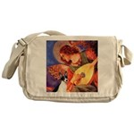Mandolin / Rat Terrier Messenger Bag