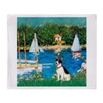 Sailboats / Rat Terrier Throw Blanket