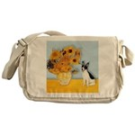 Sunflowers / Rat Terrier Messenger Bag