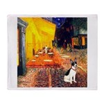 Cafe / Rat Terrier Throw Blanket