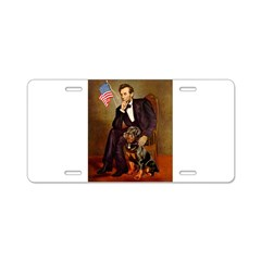 Lincoln's Rottweiler Aluminum License Plate