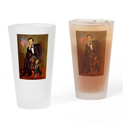 Lincoln's Rottweiler Drinking Glass