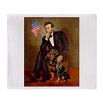 Lincoln's Rottweiler Throw Blanket