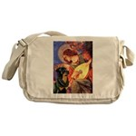 Mandolin Angel/Rottweiler Messenger Bag