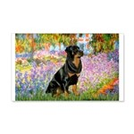 Garden / Rottweiler 20x12 Wall Decal
