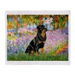 Garden / Rottweiler Throw Blanket