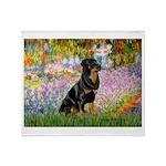 Garden / Rottweiler Throw Blanket
