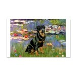 Lilies2/Rottweiler 20x12 Wall Decal